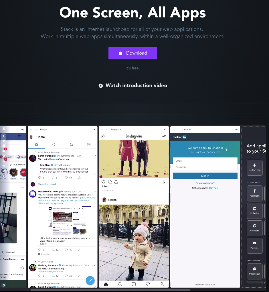 Stack Social Media Browser